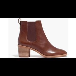 Madewell Frankie Chelsea Leather Booties
